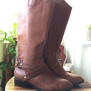 Liz Claiborne Brown Leather Riding Boots